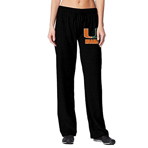 BakeOnion Women's University Of U Logo Miami Jogger Workout Pants M - Miami Macy