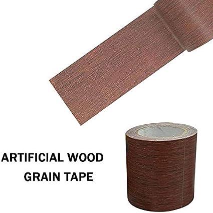 para reparaci/ón de muebles Cinta adhesiva de 5 m con dise/ño de grano de madera puertas y manualidades efecto de madera Chocolate