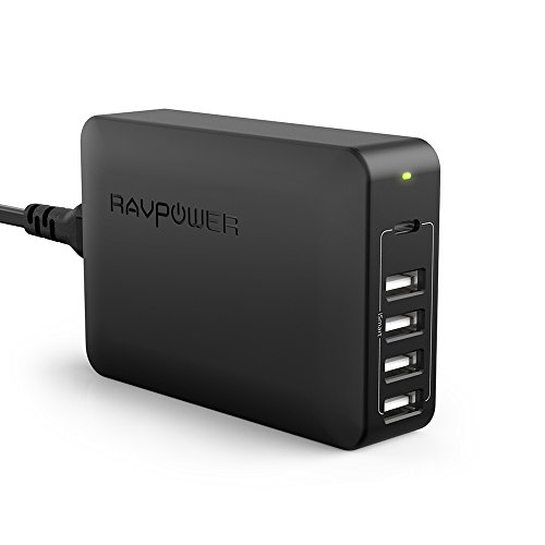 (USB C PD Charger, RAVPower 60W 5-Port USB Desktop Charging Station with 45W Power Delivery Port, Compatible MacBook, iPad Pro 2018, iPhone Xs XS XR X, Galaxy S9 S8 and More-Black)