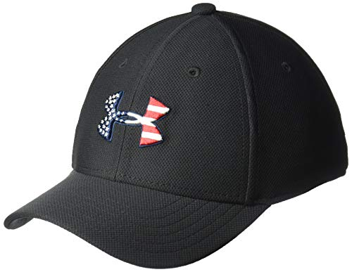 Under Armour Boys' Freedom Blitzing Cap, Black//Red, Youth X-Small/Small (Armour Hat Kids Under)