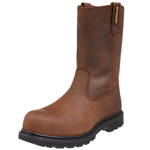Caterpillar Men's Revolver Pull-On Steel Toe Boot,Dark Brown,10 W US Mens Brown Steel Toe Boot