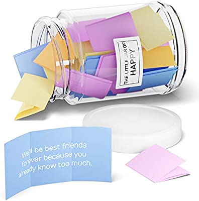 The Little Calm and Happy Company Happy Friendship Quotes Jar 30 Notes Fun,|