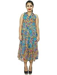 Chiffon Dress 2 Layer Leopard Print Spaghetti Strap Women Wear Sundress