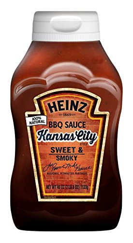 Heinz BBQ Sauce, Sweet & Smoky Kansas City Style, 40 Ounce