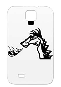 Tear-resistant Miscellaneous Animals Nature Head Dragons Outline Black Outline Protective Hard Case For Sumsang Galaxy S4