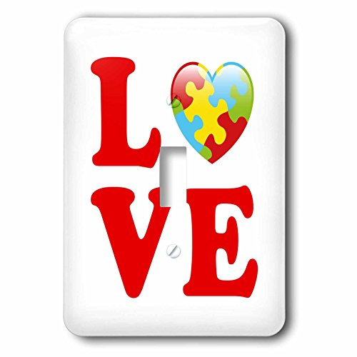 nger - Illustrations - Autism Awareness Love Heart Puzzle Pieces - Light Switch Covers - single toggle switch (lsp_282643_1) (Heart Toggle 1 Piece)