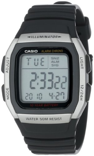 Casio Men's W96H-1AV Sport Watch with Black Band ()