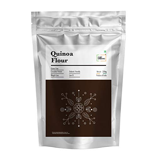 Chef Urbano Quinoa Flour 2.5 Kg   Higher Mineral Content Than Rice   Rich in Protien and Fiber   Diabetic Friendly   Aids Weight Loss   Gluten Free   Vegetarian   Non GMO Pouch, 2 kg