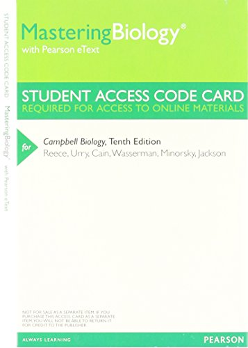 MasteringBiology with Pearson Etext -- Valuepack Access Card -- for Campbell Biology (ME Component)