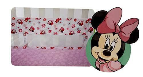minnie mouse crib bumper - 1