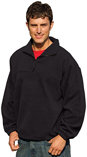 Inner Harbor Adult Poly Micro-Fleece 1/4-Zip Pullover (Black) (2X) Adult Micro Poly Pullover Jacket