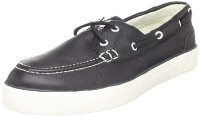 Polo Ralph Lauren Men's Sander Boat Shoe,Black,8.5 D US