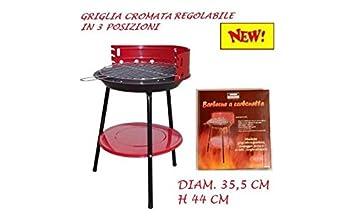 BBQ Barbacoa portátil redondo parrilla a carbón vegetal con brasero Carbón Grill 35 x