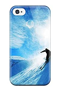 CaseyKBrown Premium Protective Hard Case For Iphone 4/4s- Nice Design - Skiing Over Snow