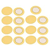 Aexit 15pcs 35mm Diameter Piezo Discs Piezoelectric Ceramic Copper Buzzer Film Gasket
