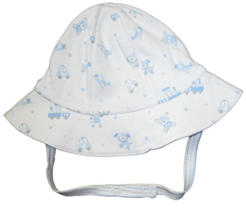 Kissy Kissy Reversible Cap (Kissy Kissy Baby-Boys Infant My First Friends Reversible Sunhat-White With)
