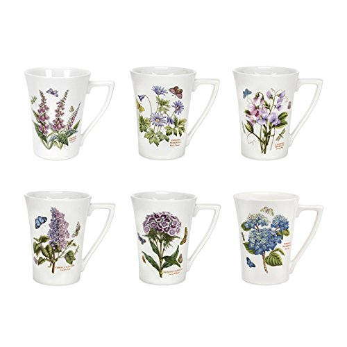 Portmeirion Botanic Garden Set of 6 Mandarin Mugs (Assorted Motifs) ()