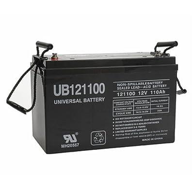 UPG 45981 - UB121100 (Group 30H) - AGM Battery - Sealed Lead Acid - 12 Volt - 110 Ah Capacity - I6 Terminal