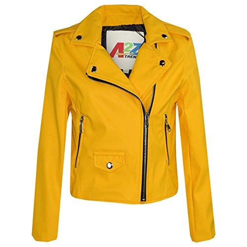 A2Z 4 Kids® Kids Jackets Girls Designer's PU Leather Jacket Zip Up Biker Coats 5-13 Years - Exclusive Leather Jacket