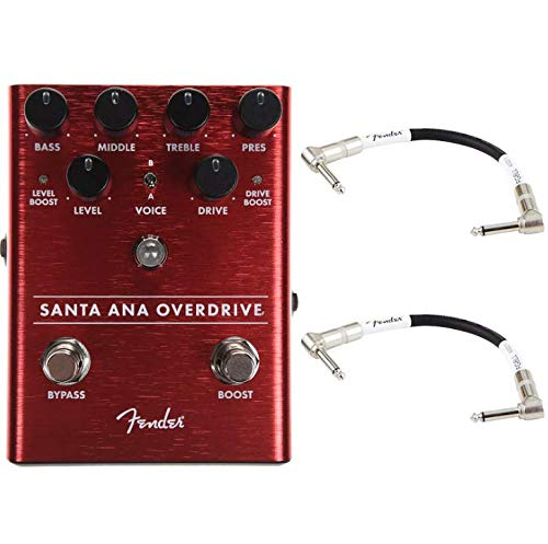 Flavor Durable Original (Fender Santa Ana Overdrive Pedal Bundle w/Patch Cables)