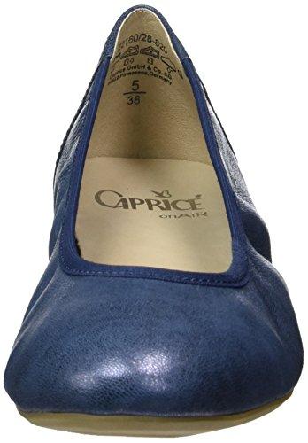 Caprice ocean Metallic Blu 22160 Donna Ballerine CUTCwp1q