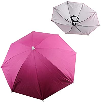 Amazon.com   Ogrmar 2PCS Umbrella Hat Headwear for Outdoor Fishing  Gardening Beach (Rose Red)   Garden   Outdoor b4eaee4ac23f
