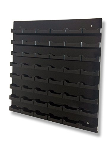 - Marketing Holders 48-pocket Wall Mount Business Card Holder Rack - Black Acrylic (black, 1)