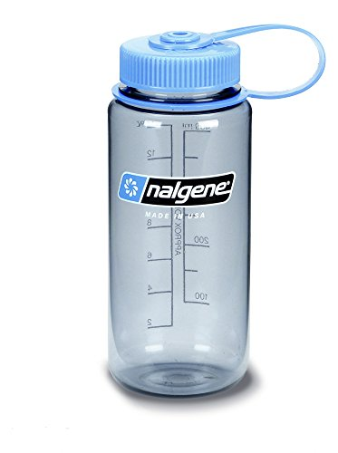 16 Oz Nalgene Water Bottle - Nalgene Everyday Wide Mouth Bottle 1 Pint Silver