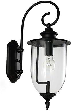 Gvqng ブラケットライト 屋外のガラス壁ランプ北欧ミニマルモダンな照明フィクス防水ガーデンコートヤードテラスバスルームシングルヘッドアイアンウォールライトウォールライト壁取り付け用燭台