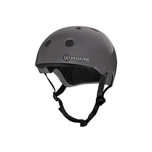 (187 Killer Pads Pro Skate Helmet - Matte Charcoal - X-Large)