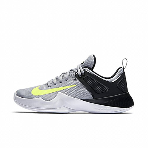Nike Womens Air Zoom Hyperace Running Shoes ( 9 B(M) US , Wolf Grey / Volt - Black ) by NIKE