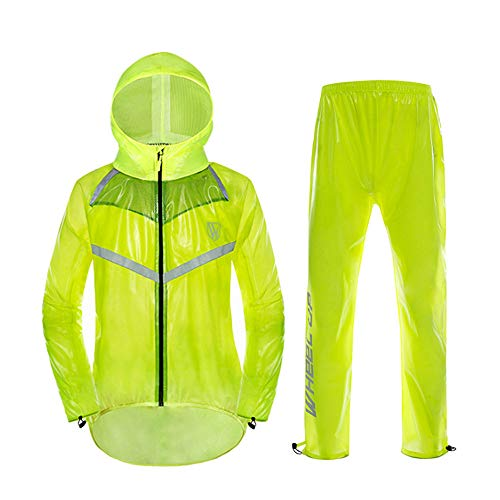 Split Pantalon extrieure Pluie quitation impermable Guyuan Color Fluorescent impermable de XXXXL Taille Yellow VTT Ensemble Vlo quitation SE81wqv