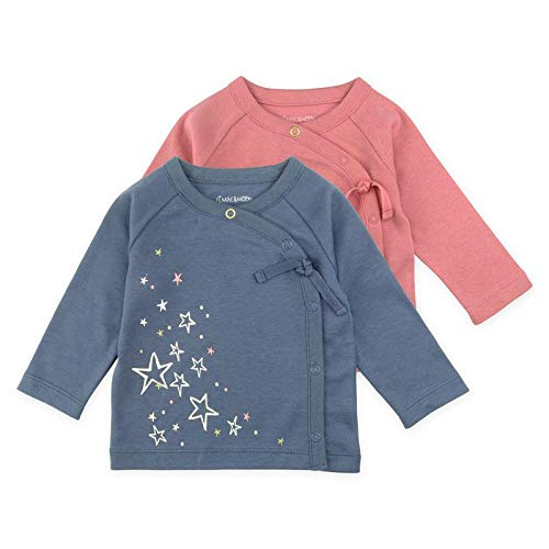 Baby Girl Tee Set, 2-Pack Long Sleeve Kimono Wrap Tee Shirts