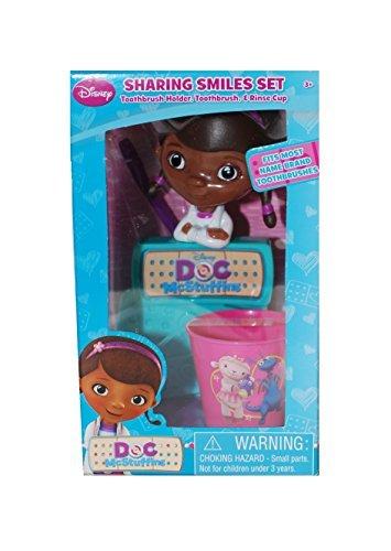 Disney Doc McStuffins Sparkling Smile Set Toothbrush Holder & Rinse Cup
