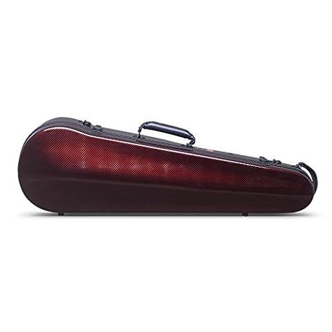 Crossrock CRF3000SVRD Composite Carbon Fiber Light Weight Shaped Violin Hard-shell Case, 4/4 Full Size in (Violin Case 4 4 Hard)