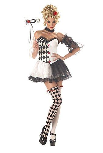 Le Belle Harlequin Costume - -
