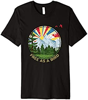 Free As A Bird Funny Outdoor Enthusiast Hiking Camping  Premium T-shirt | Size S - 5XL
