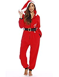 Adult Christmas Onesie for Women Sherpa One-Piece Pajamas