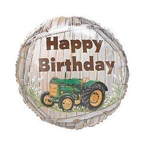 John Deere Mylar Balloon - (2) JOHN DEERE TRACTOR BIRTHDAY MYLAR Balloons Green Tractor with Yellow Trim