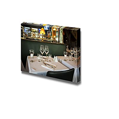 Canvas Prints Wall Art - Evening Scenery by Typical France Brasserie | Modern Wall Decor/Home Art Stretched Gallery Wraps Giclee Print & Wood Framed. Ready to Hang - 16