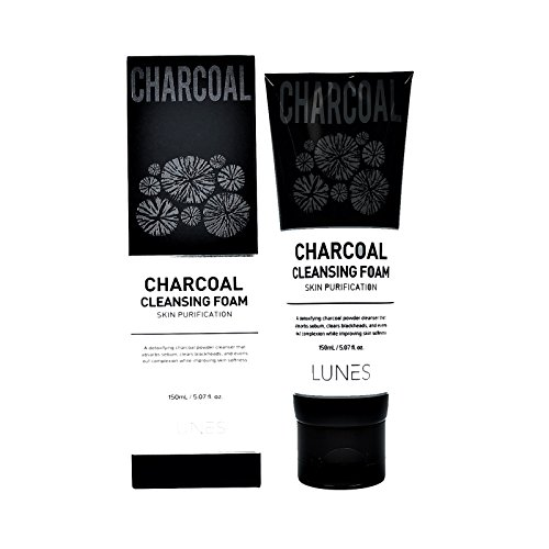 (LUNES Charcoal Cleansing Foam)