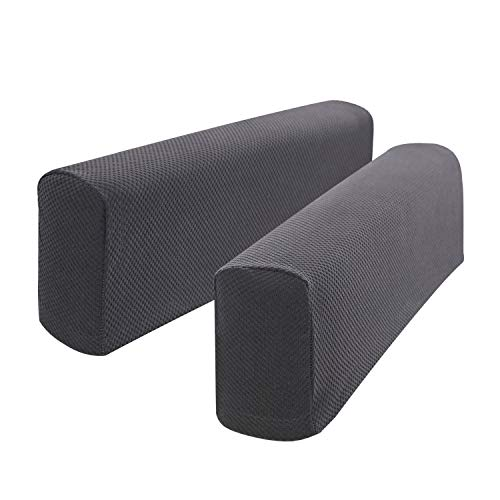 Hanhao Armrest Cover Ultra Thick and Soft Spandex Stretch Pixel Arm Cover for Recliners Sofas Chairs Loveseats Elastic Anti slip Furniture Armrest Protector for Couch set of 2 (Grey)