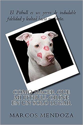 Como Hacer que Mi Pitbull Orine en un Solo Lugar (Spanish Edition): Marcos Mendoza: 9781986529051: Amazon.com: Books