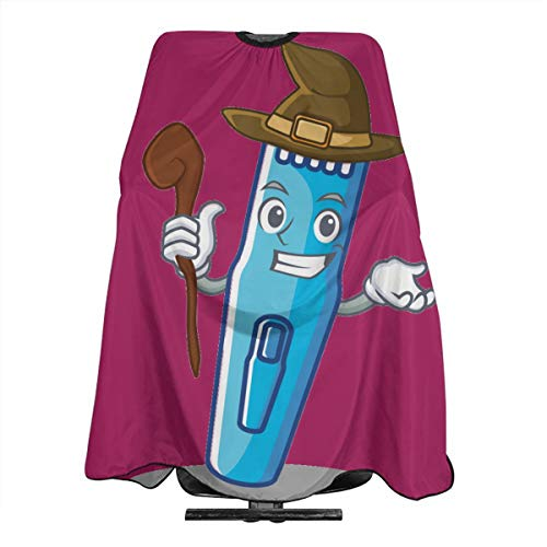 Halloween Witch Burgundy Machine Electric Trimmer Hairdresser Hair Stylist Haircut Cover Salon Barbering Cape Shop Accessories Styling Cutting Kit Professional Pare Estilista Barbero Adults Capa -