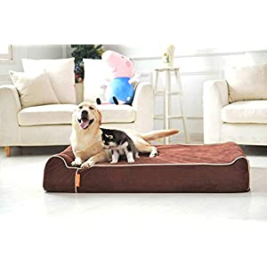 Laifug Orthopedic Memory Foam Extra Large Dog Bed Pillow with Durable Water Proof Liner & Removable Washable Cover & Smart Design 37