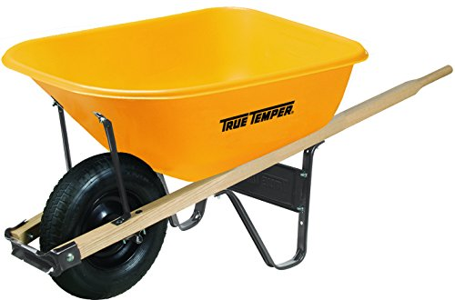 True Temper Wheelbarrows - The AMES Companies, Inc True Temper 6 Cubic Foot Poly Wheelbarrow - RP625