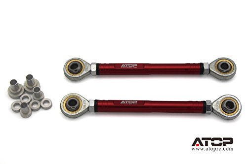 ATOP RC Front Aluminum Pull Rod for Losi 5ive-T (Red)