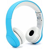 Anble Kids Headphones with Microphone Volume Limited Foldable Wired Headsets for Children - Blue