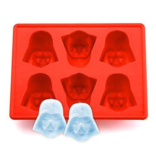 Family Care Eiswürfelform Schokolade-Gussform - 6 x Silikon Darth Vader Set Star Wars Eiswürfel, Schokolade, Süßigkeiten, Götterspeise, Rot