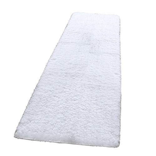 LOCHAS Tufted Shag Rug Collection Contemporary Bath Rug Non-Slip Soft Shaggy Rug Ivory Plush Runner Rug Bath Rugs (2×6.5ft)